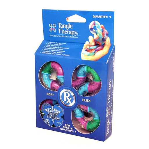 Classroom Aid Tangle Therapy Hand Fidget for Hand Strengthening and Relaxation (Color may vary)