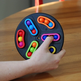 Toys & Games AWARD WINNING! Back Spin Game: Spin, Switch, Solve Brainteaser & Fidget