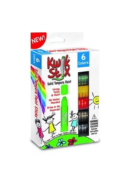 Toys & Games Kwik Stix Solid Tempera Paint, Super Quick Drying (Primary 6 Pack)