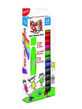 Toys & Games Kwik Stix Solid Tempera Paint, Super Quick Drying (Primary 12 Pack)