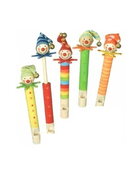 Sound & Lights Wooden Clown Slide Whistle