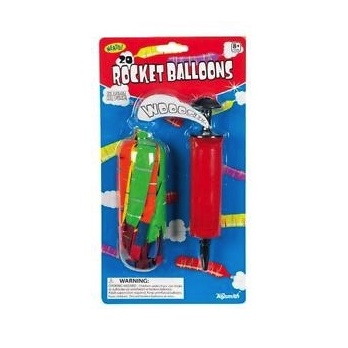 "Toys & Games Rocket Balloon Set with 7"" Pump & 20 High Flying Balloons"