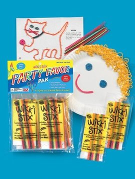 """Toys & Games Wikki Stix 15 Party Packs of 12, 6"""" Stix with Play Sheets"""
