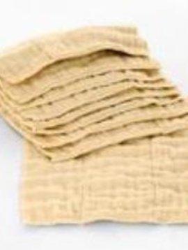 Diaper Accessories Osocozy Unbleached Infant (4x8x4 Layer) Indian Cotton Prefolds (1 DOZEN)