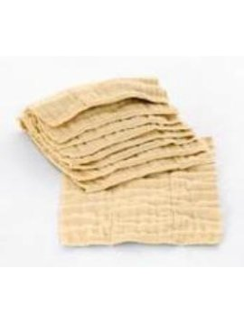 Diaper Accessories Osocozy Premium (4x8x4 Layers) Unbleached Indian Cotton Prefolds (1/2 Dozen)