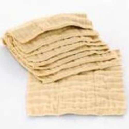 Diaper Accessories Osocozy Premium (4x8x4 Layers) Unbleached Indian Cotton Prefolds (1/2 Dozen)