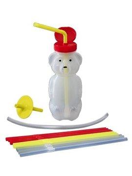 Therapy Equipment ARK's Ultra Bear Bottle Kit (1 bottle, 1 lid, 12 regular straws, 1 Select-Flow Valve, 1 Lip Blok, Polytubing)