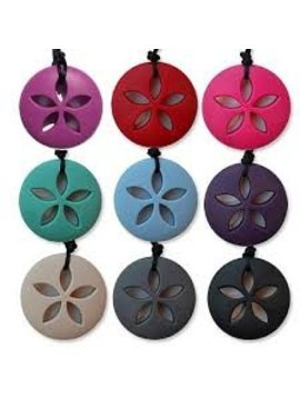 Chews & Chewlry Zen Rocks Lucky Sand Dollar Chew Necklace