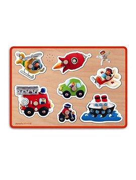 Toys & Games Janod Fleurus Vehicles Sound Puzzle
