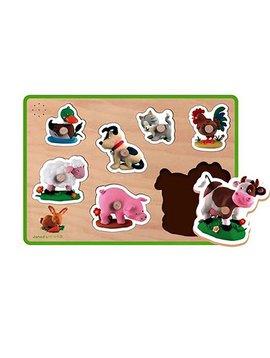 Toys & Games Janod Fleurus Farm Sound Puzzle