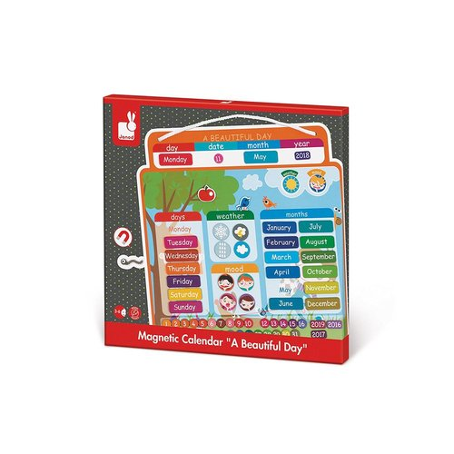 Toys & Games Janod Magnetic Calendar A Beautiful Day