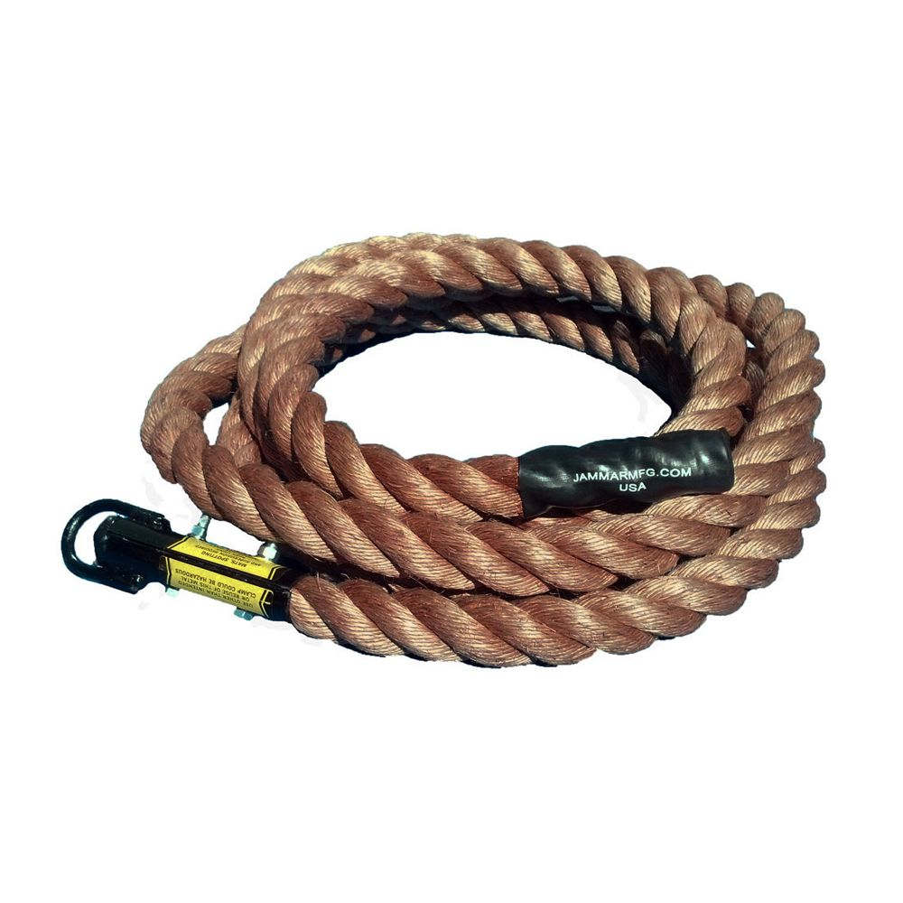 Special Order Jammar 22 ft Premium Manila Climbing Rope with Turk's Head End and Beginner Knots *FREE SHIPPING!
