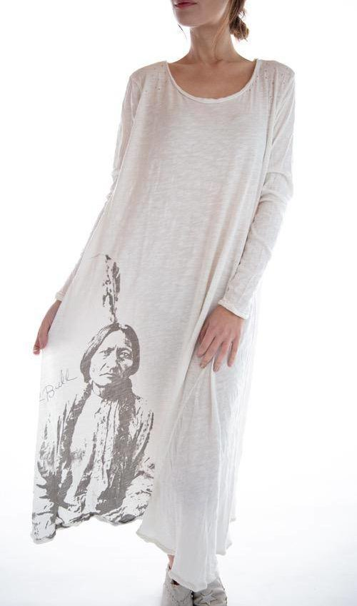 Cotton Jersey Sitting Bull Dylan T Dress, Magnolia Pearl