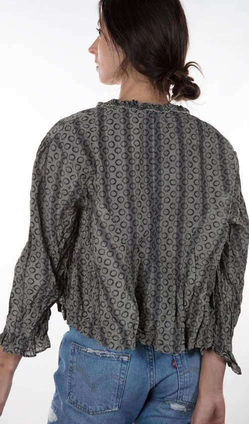 Cotton Abaigael Stagecoach Overtop with Three Quarter Sleeves and Antiqued Hook And Eyes