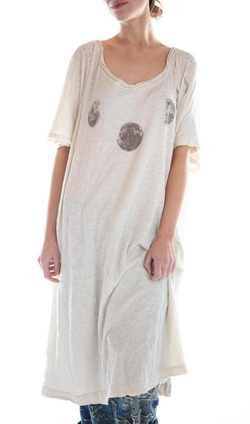 Cotton Jersey Moon Beau T Dress, Magnolia Pearl