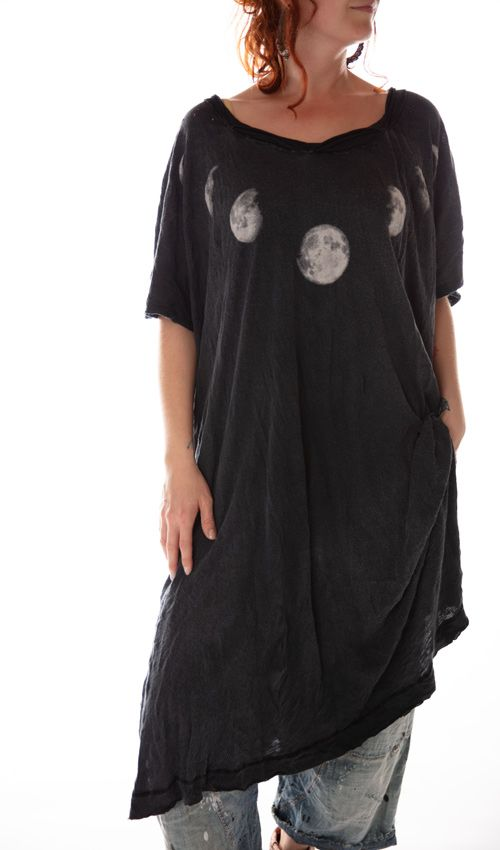 Cotton Jersey Moon Beau T Dress, Magnolia Pearl