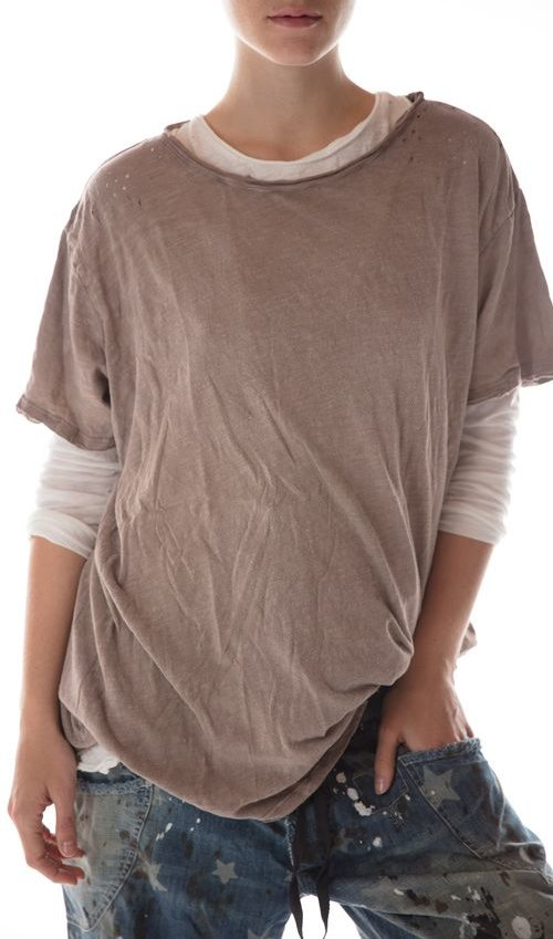 Cotton Jersey New Boyfriend T, Magnolia Pearl