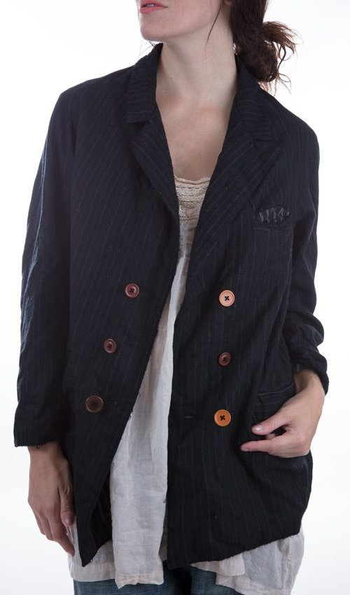 Fine Wool Violet Jacket with Cotton Lining, Magnolia Pearl
