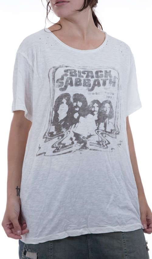 Black Sabbath World Tour Cotton Jersey, New Boyfriend, Magnolia Pearl