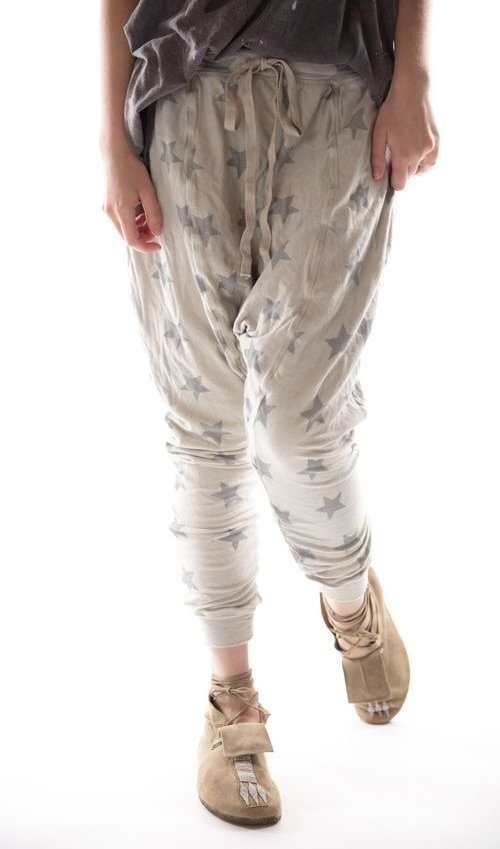 Cotton Jersey Nightfall Leggings with Drawstring Waist, Magnolia Pearl