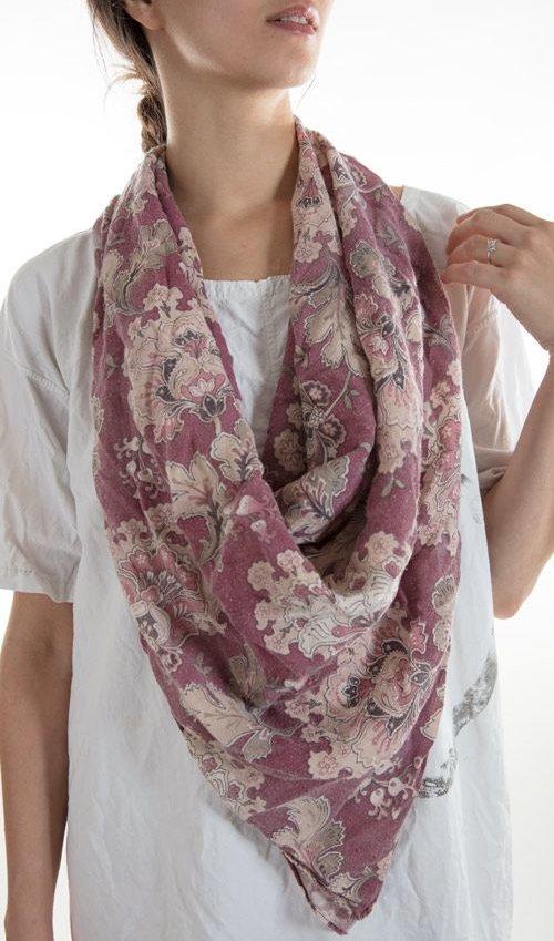 Khadi Cotton Scarf, Magnolia Pearl