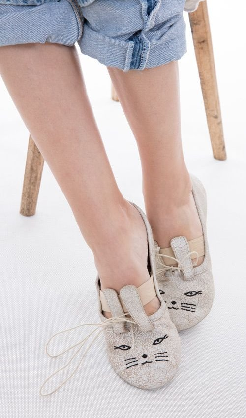 All Leather Happy Ballet Shoes, Magnolia Pearl
