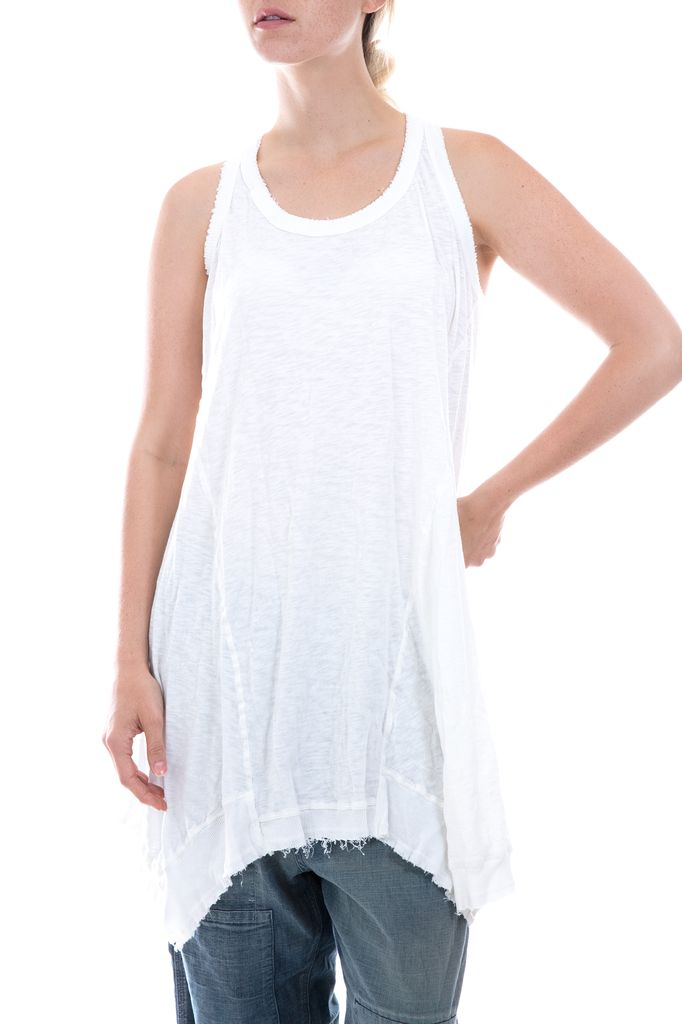 Cotton Jersey Paz A-line Tank, Magnolia Pearl