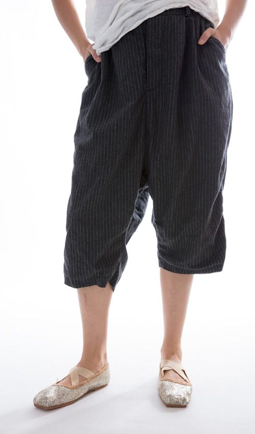 Paschal Wool Pinstriped Trousers, Magnolia Pearl