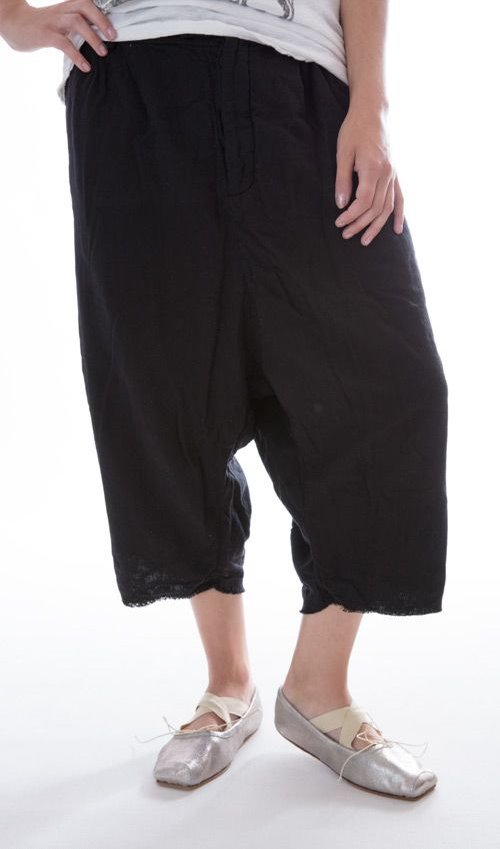 Alexandr Woven Cotton Trousers with Drop Rise and Adjustable Button Waste