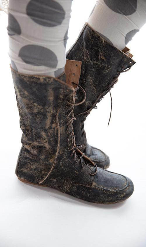 All Leather Australian Outback Lace Up Boot with Leather Sole and Lining, Magnolia Pearl