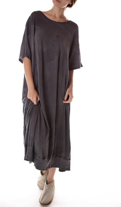 Cotton Jersey Yoko Banded T Dress, Magnolia Pearl