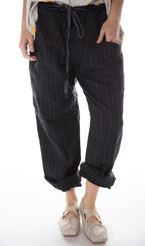 OKeefe Pants with Button Fly and Drawstring Waist, Magnolia Pearl