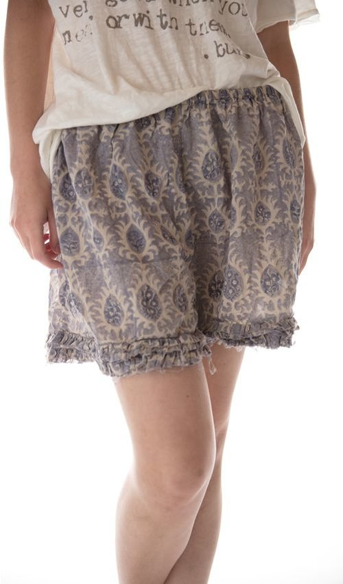 Cotton Khloe Undershorts with Cotton Lace Ruffles, Magnolia Pearl