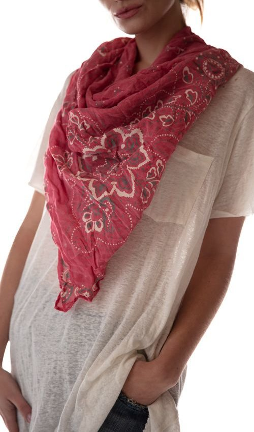 Thin Cotton Ranch Hand Bandana Scarf, Magnolia Pearl