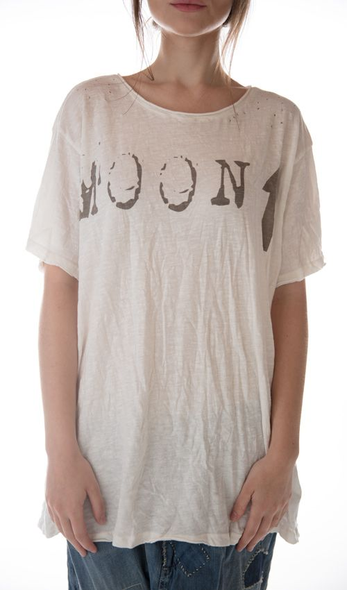 Cotton Jersey Moon Up T, New Boyfriend Cut, Magnolia Pearl