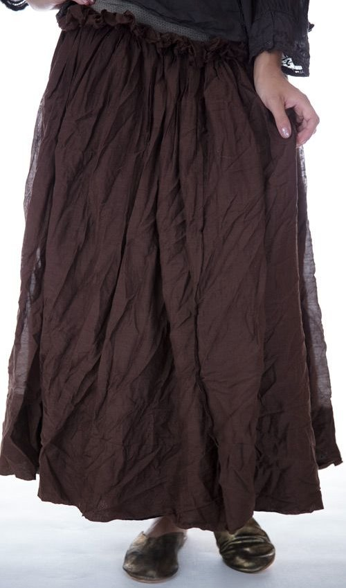 Cotton Silk Nathalia Ruffled Wrap Skirt Apron, Magnolia Pearl