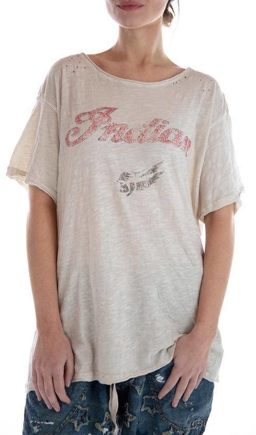 Cotton Jersey Moto T, New Boyfriend Cut, Magnolia Pearl