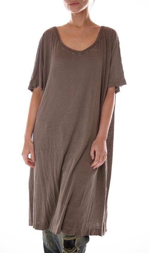 Cotton Linen Beau T Dress, Magnolia Pearl