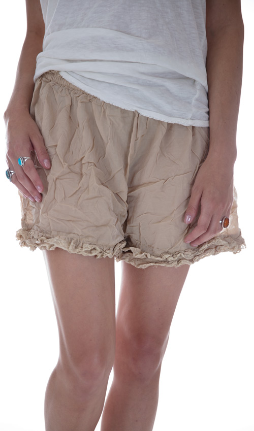 Cotton Silk Khloe Undershorts with French Cotton Lace Ruffles