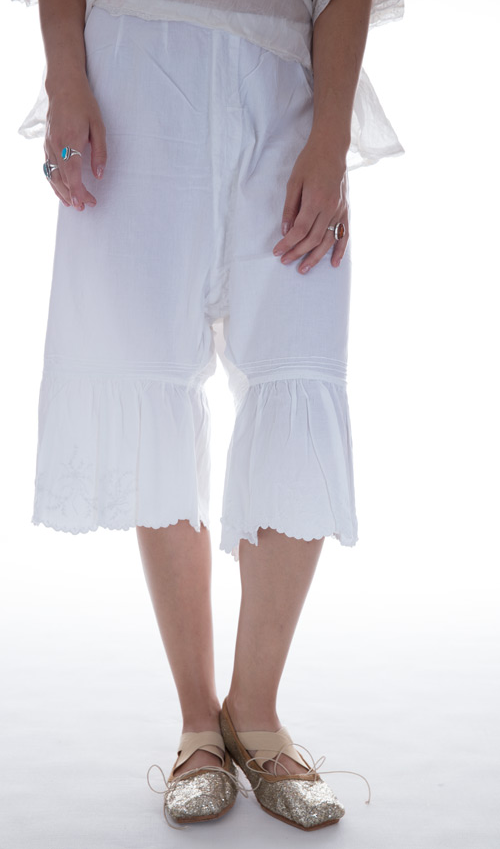 European Cotton Vadlena Bloomers - White