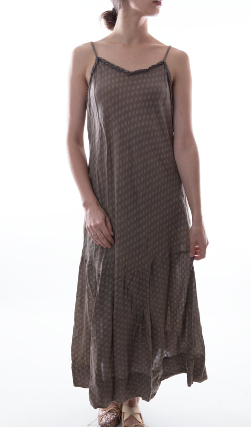 Cotton Silk Anya Slip with Adjustable Straps - Magnolia Pearl