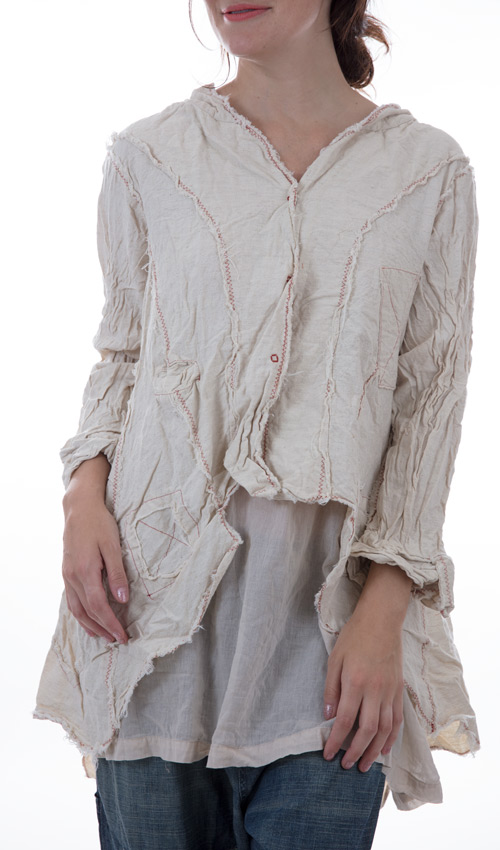 Nanny McPhee Jacket with Patches, and Decorative Stitiching - Magnolia Pearl