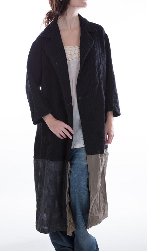 Fine Wool Helena Josephina Jacket with Cotton Lining, Magnolia Pearl