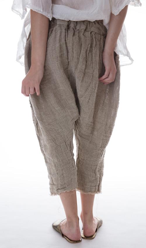 Handwoven European Linen Calla Pants in Moss