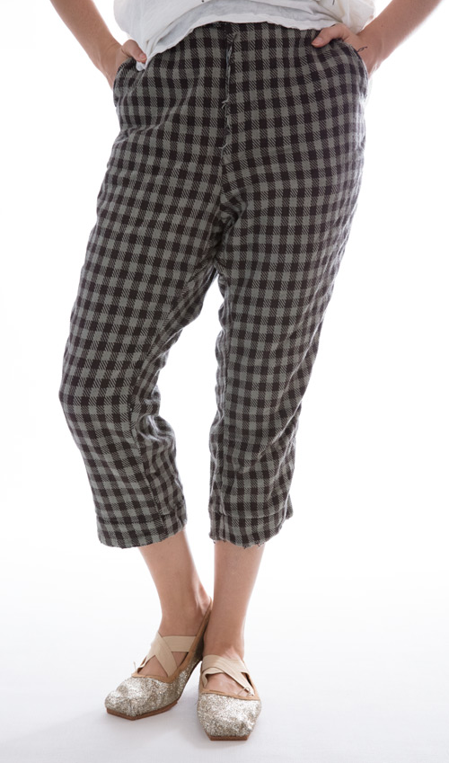 Woven Cotton Fagin Pants with Cotton Twill Lining, Magnolia Pearl