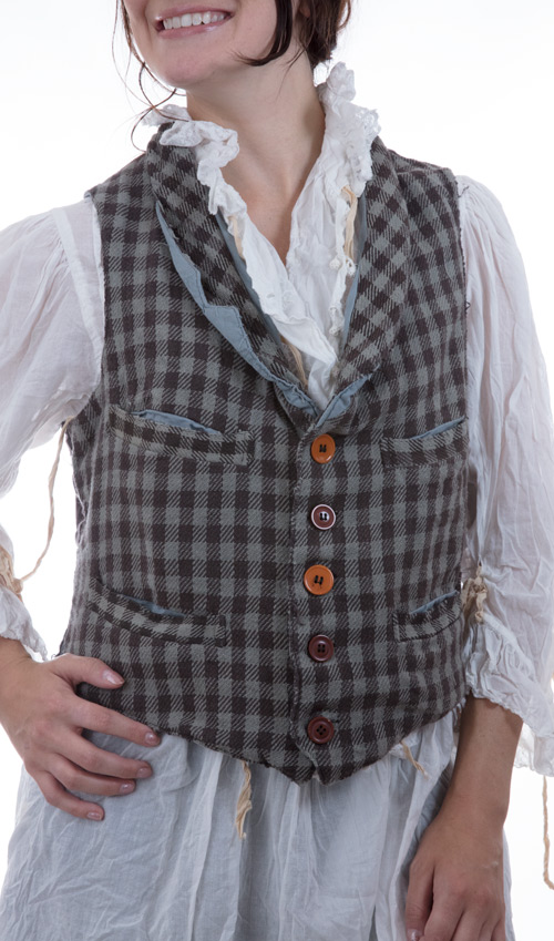 Woven Cotton Fagin Vest with Cotton Twill Lining, Magnolia Pearl