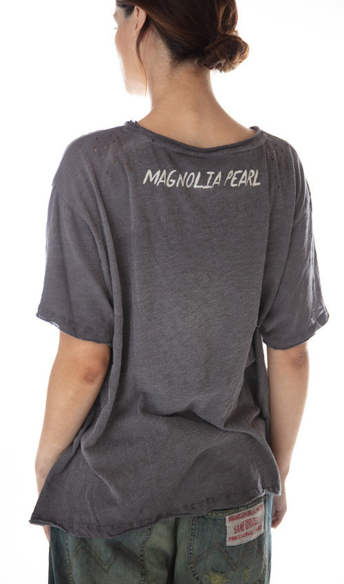 Cotton Jersey Sliver Of Moonlight T, New Boyfriend Cut, Magnolia Pearl