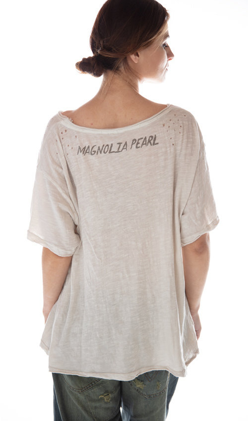 Cotton Jersey Licorice T, New Boyfriend Cut, Magnolia Pearl