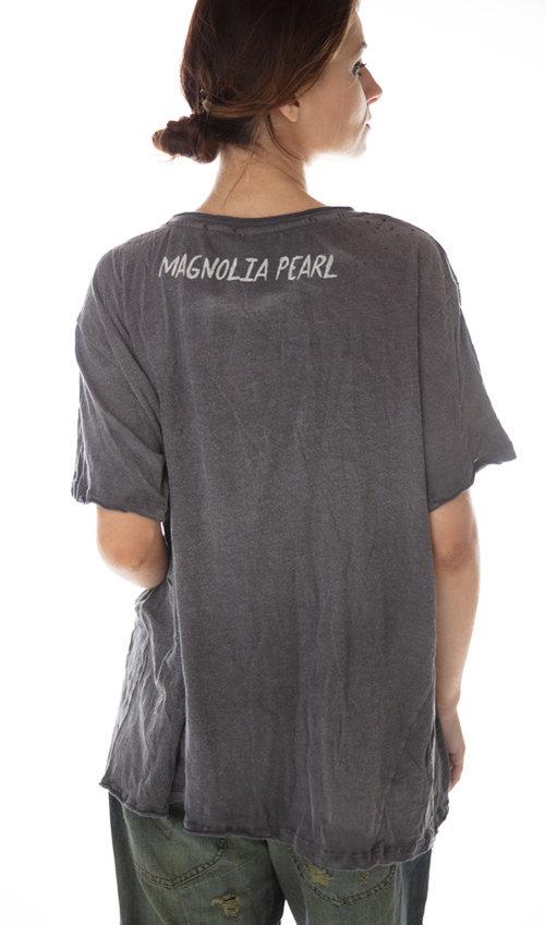 Cotton Jersey Geronimo Azul T, New Boyfriend Cut, Magnolia Pearl
