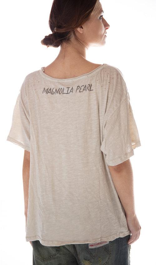 Cotton Jersey Zapata T, New Boyfriend Cut, Magnolia Pearl